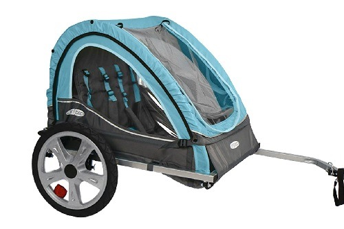 InStep Take 2 Double Bicycle Trailer On White Surface
