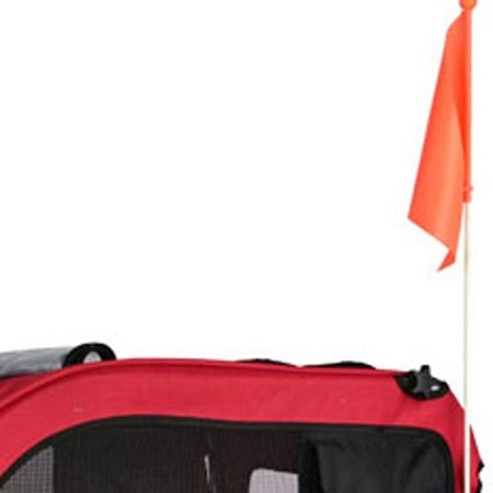 Veelar Doggyhut Large Pet Bike Trailer Flag